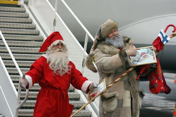 Kalėdų Senelis Joulupukki iš Laplandijos nusileido