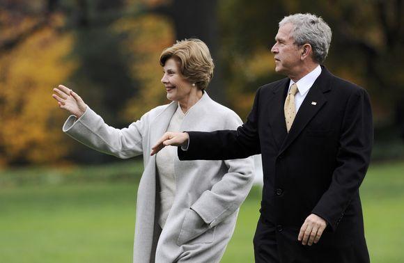 George'as W. Bushas ir Laura Bush