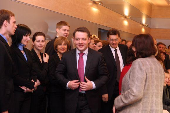 Eligijaus Masiulio naujojo susisiekimo ministro pristatymas ministerijos darbuotojams