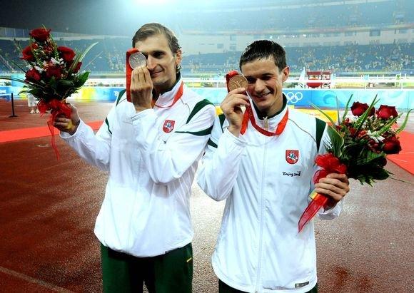 Alfredo Pliadžio nuotr./Edvinas Krungolcas Pekino olimpinėse žaidynėse