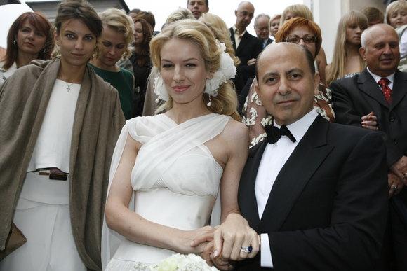 Scanpix nuotr./S.Griaznovos vestuvių akimirka