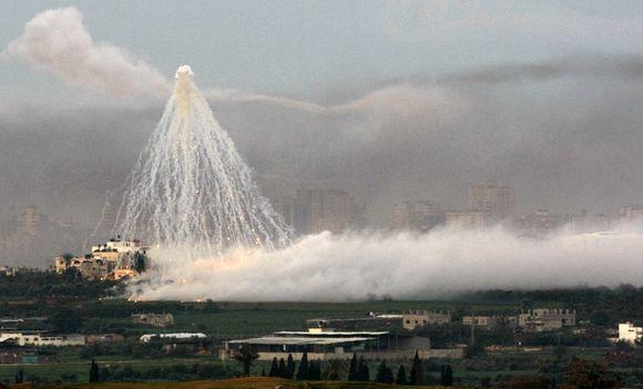 Bombarduojamas Gazos ruožas
