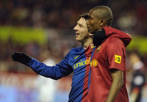 L.Messi (k.) ir S.Eto.