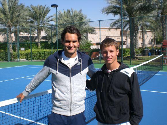 R.Federeris kartu su R.Berankiu treniravosi jau ketvirtą kartą