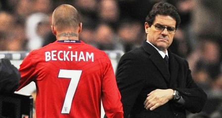 Fabio Capello ir Davidas Beckhamas