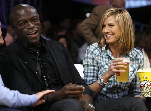 Sealas ir Heidi Klum rungtynėse.