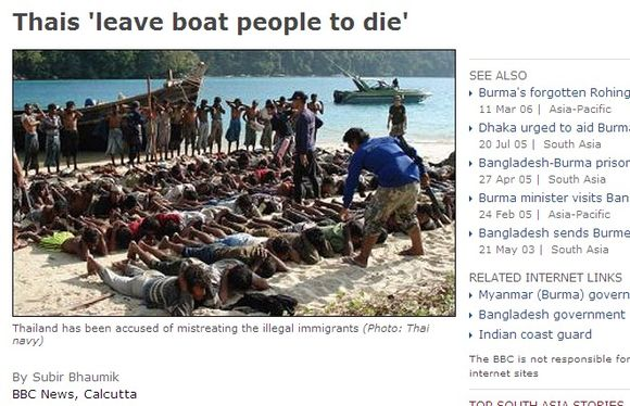 Tailando elgesys su imigrantais itin žiaurus.