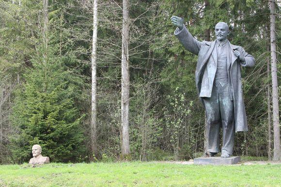 Skulptūra Leninui Grūto parke
