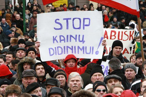 Po savaitgalį Klaipėdoje vykusio mitingo miesto valdžia pasikvietė profsąjungiečius taikiam pokalbiui.