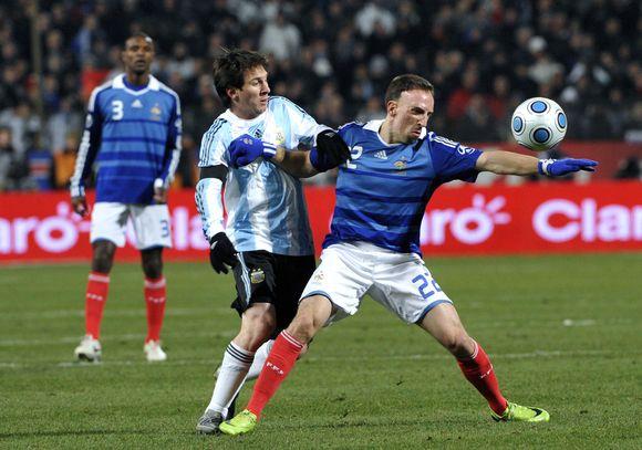 Rinktinių lyderių F.Ribery ir L.Messi dvikova