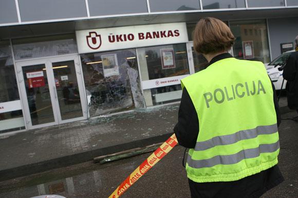 Apiplėštas bankas