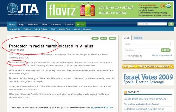 A.Pažarskis apšauktas rasistų maršo dalyviu.