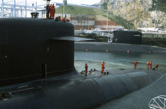 """Prancūzijai priklausantis karinis povandeninis laivas """"Le Triomphant"""""""