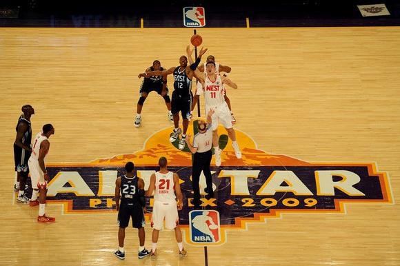 Visų žvaigždžių runtynėse triumfavo vakarų konferencijos krepšininkai.