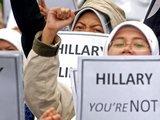 """""""Scanpix"""" nuotr./Džakartoje (Indonezija) prie JAV ambasados vyko protestas. H.Clinton čia nelaukiama."""