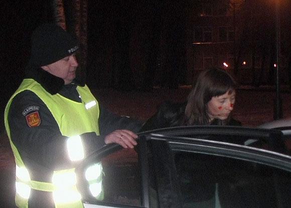 Policijos sulaikyta Vilma Juostė