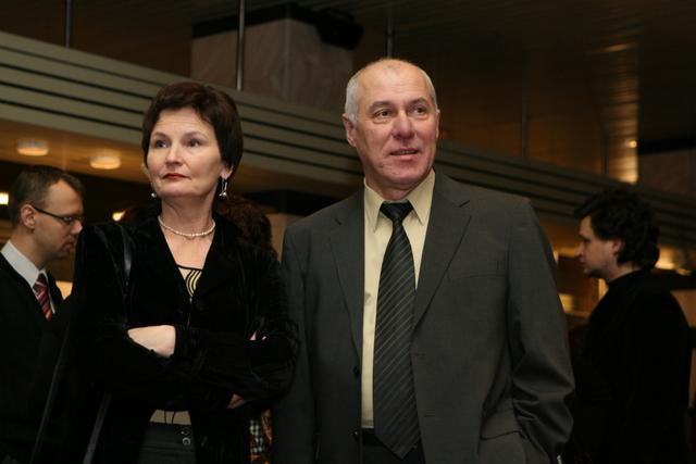 Solistas Vladimiras Prudnikovas su žmona