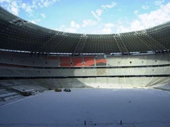 """""""Donbass Arena"""" jau baigiama statyti."""