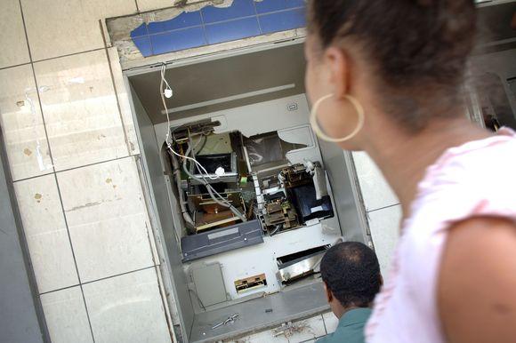 Apvogtas bankomatas