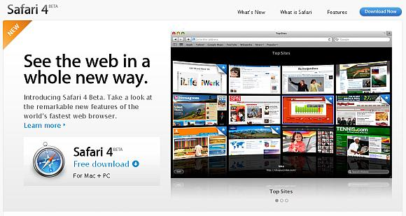 """Interneto naršyklė """"Safari 4"""" pasirodė esanti greičiausia pasaulyje."""