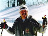 Prezidentas A.Lukašenka slidinėja