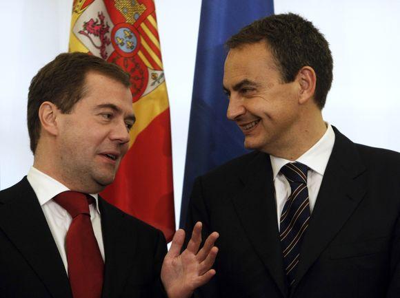 Rusijos prezidentas ir Ispanijos premjeras.