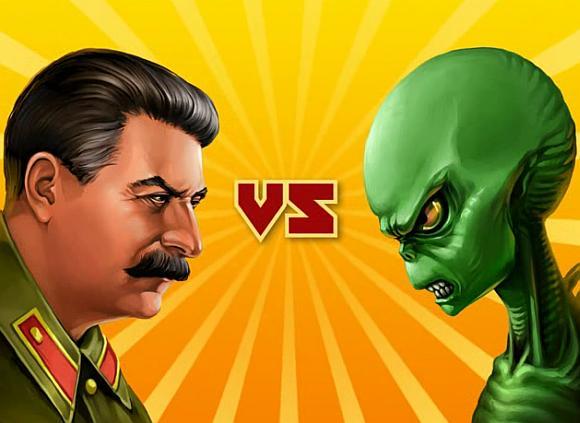 Žaidimo kūrėjų sumanymu Stalinas turėtų iškaršti kailį marsiečiams.