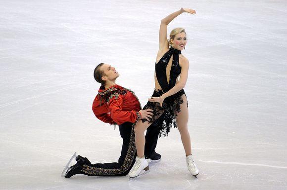 K.Copely ir D.Stagniūnas po pirmojo šokio - šešiolikti.