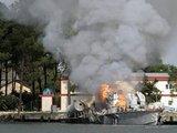 russianocupationblogspot nuotr./Počio uostas susirėmimų metu