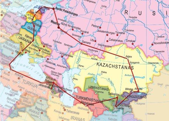 Ekspedicijos žemėlapis