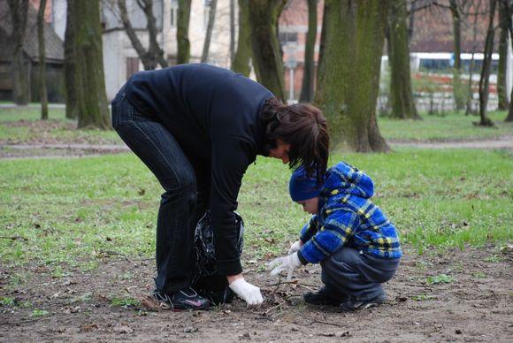 Ketvirtadienį buvo tvarkomas Kauno Ramybės parkas.
