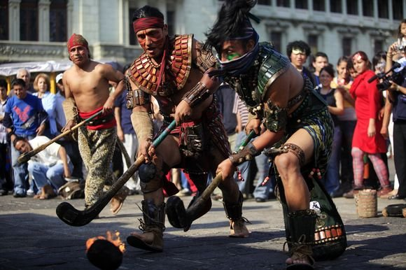 Reuters/Scanpix nuotr./Senovinis majų žaidimas su kamuoliu