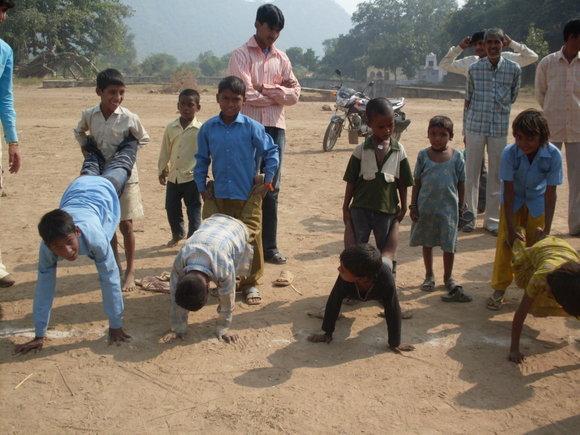 Auaros Vaičytės nuotr./Tokią mokyklą lanko Indijos vaikai.