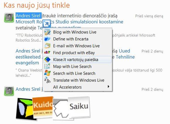 """Bendrovė """"Microsoft"""" pristatė lietuvišką interneto naršyklės """"Internet Explorer 8"""" versiją."""