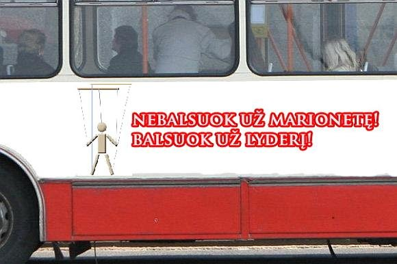 15min.lt skaitytojo Simono K. fotomontažas/Nebalsuok už marionetę