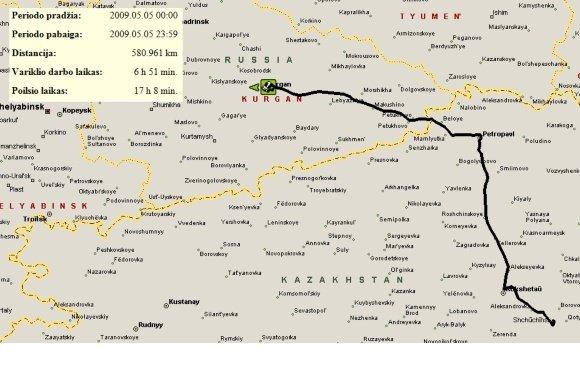 UAB Altas IT transporto kontrolės sistema/V.Miliaus gegužės 5 d. mararutas
