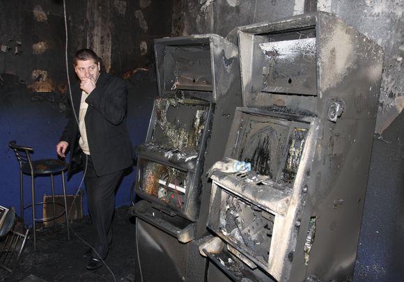 Ukrainoje kilo gaisras lošimo automatų salone.
