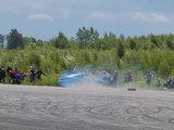 Roberto Paulauskio/SEAT Klubas nuotr./Automobilis skrieja į žiūrovų minią