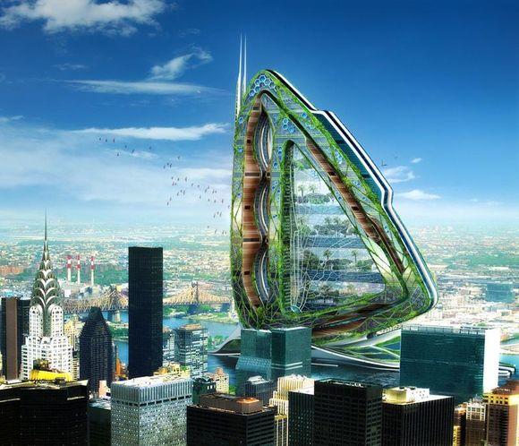 Tikimasi, kad įspūdingas laumžirgio formos dangoraižis pradės nayją miesto žemdirbystės amžių.