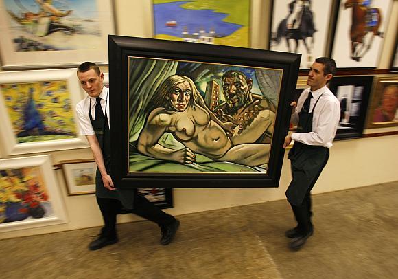 Aukciono rengėjai už šį Peterio Howsono paveikslą tikisi gauti ne mažiau nei 20 tūkst. svarų.