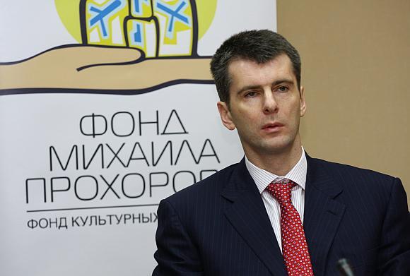Michailas Prochorovas – turtingiausias Rusijos verslininkas.