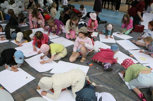 Vaikų piešimo akcija