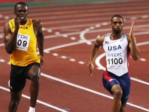 Usainas Boltas ir Tyson Gay