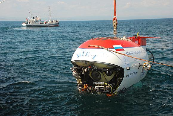 """Rusų povandeninis aparatas """"Mir-1"""""""