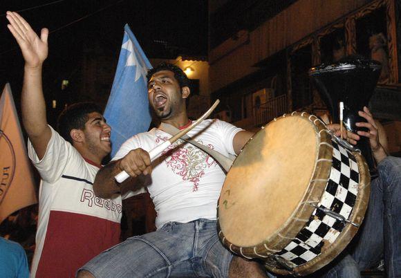 S.al Hariri šalininkai audringai šventė pergalę