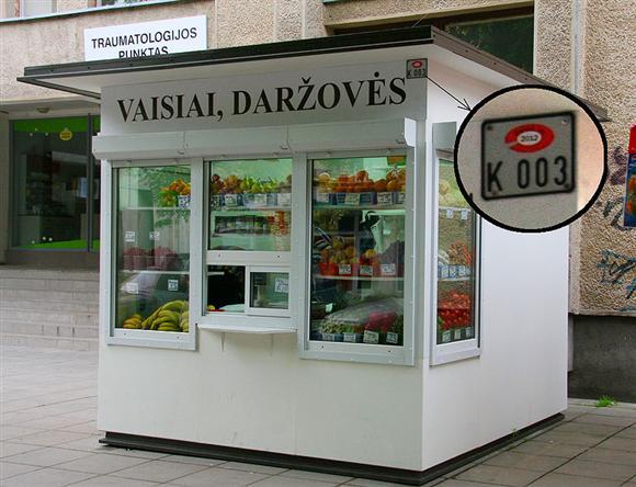 Legaliai prekiaujančių asmenų kioskai bus specialiai pažymėti