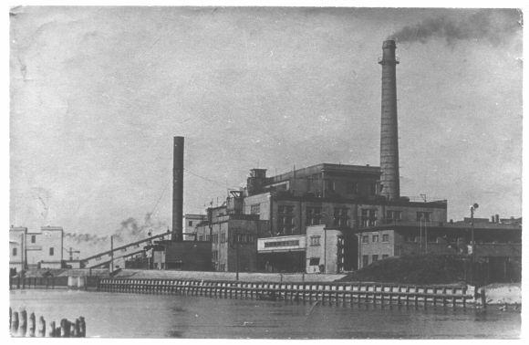 Senoji elektrinė ant Danės upės kranto.