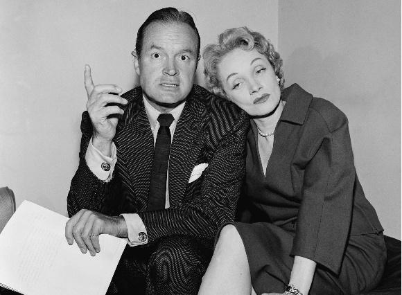 Marliene Dietrich su aktorium Bobu Hope'u