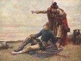 """wikimedia.org nuotr./Gustafo Cederströmo paveikslas """"Karolis XII ir Mazepa prie Dniepro"""""""