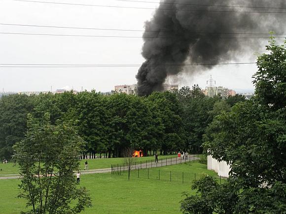 """Krokuvoje nukrito ir sudegė lėktuvas """"Cessna 172"""""""